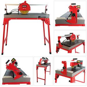 Excel Wet Tile Saw Cutting Machine 800W with Folding Legs & 200mm Diamond Blade