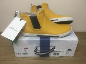 BNWT Joules Rainwell Short Height Slip On Welly Adult Size 6 Antique Gold Womens