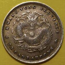 ND(1890-1908) China, Kwangtung, Kuang-Hsu Yuan-pao,10 Cents, Dragon Silver Coin