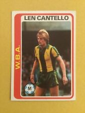 West Bromwich Albion Football Trading Cards 1979-1980 Season