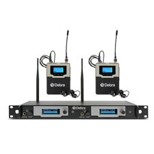Professional Dual Channel UHF In Ear Monitor System With 2 Bodypack Receivers