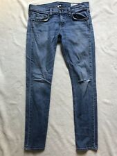 Rag & Bone Tomboy West Village Wash Distressed Knee Size 26