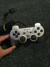 Official SONY PS2 PLAYSTATION 2 Wired Controller Genuine Silver DUALSHOCK 2
