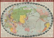 1930 Osaka Mainichi Shinbun World Map Sugoroku