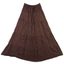 Bohemian Tier Long Skirt Boho Hippy Hippie Gypsy Dark Brown XS-XL sk167bd