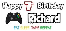 Personalised Xbox Controller Birthday Banner x 2 Party Decorations NAME & AGE