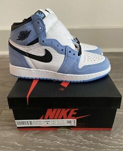 Nike Air Jordan Retro 1 High OG Univerisity Blue UNC YOUTH GS Size 4Y BRAND NEW