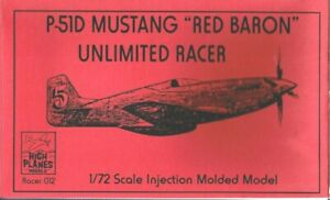 1/72 High Planes 72012; RED BARON P-51D Mustang Unlimited Racer
