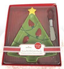Hallmark Christmas Tree Serving Dish with Light Spreader Star Platter