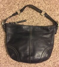 Authentic Coach Black Leather Bag Purse