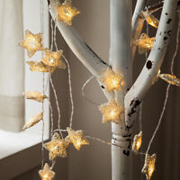 20 LED STAR Lights BATTERY Operated Fairy String Wire Indoor Party Bedroom Lamp