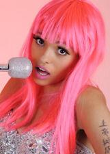 Nicki Minaj Style Long Neon Pink Wig