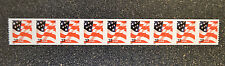 2002USA #3632 37c Flag American Plate Number Coil Strip of 9 PNC Mint #9999
