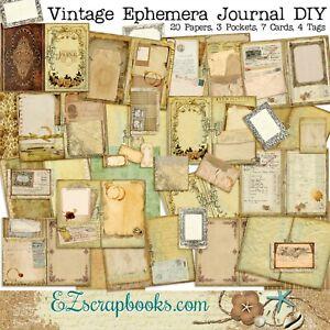 Vintage Ephemera Junk Journal DIY Kit - EZ-7106