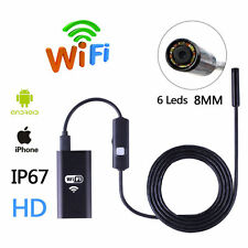 HD 6 LED Wifi Inspection Camera IP67 Endoscope Borescope For IOS Android Windows