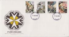 UNADDRESSED GB ROYAL MAIL FDC 1987 ST JOHN AMBULANCE STAMP SET PLYMOUTH PMK
