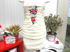 """paprika"" ladies lemon body con size 14 dress b.n.w.t."