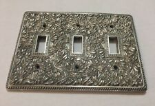 Vicenza Designs Wp7007 San Michele Wall Plate Triple Toggle Polished Silver