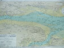 ANTIQUE MAP HOLEHAVEN TO THE NORE ENTRANCE TO MEDWAY 1949 ADMIRALTY MAP CHART