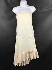 Juicy Couture Beach Angel Cover Up Dress Ivory Cream Lace Strapless $151 NWT XS