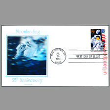 FDC Moon Landing 25th Anniversary FDoI uncovers Hologram Cachet