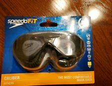 Speedo Adult Hybrid Swim Mask Goggles -  Anti Fog, Speed Fit, UV Protection NEW