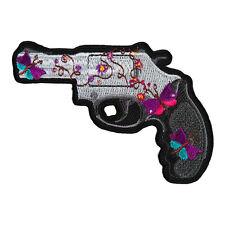 Ladies Butterly & Flower Handgun Left Patch, Gun Patches