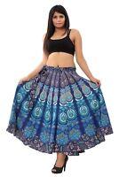Indian Women Ethnic Mandala Rapron Printed Cotton Long Skirt Wrap Around Skirt