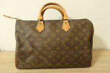 Authentic Louis Vuitton Speedy 35 Hand Bag Monogram Brown #7280