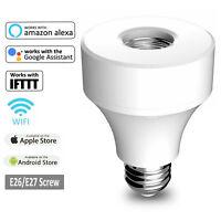E26/E27 WiFi Smart Bulb Adapter Light Socket Works With Amazon Alexa Google Home