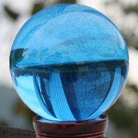 40MM Rare Natural Quartz Blue Magic Crystal Ball Healing Reiki Sphere Stone Lot