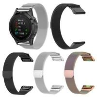 Milanese Mental Watch Band Wrist Strap for Garmin Fenix 5 5Plus Approach S60 S50