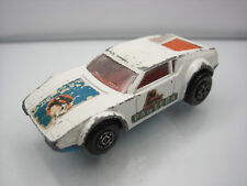 Diecast Matchbox Superfast De Tomaso Pantera No. 8 White Good Condition