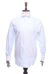 ETON Contemporary Light Blue Striped Cotton Formal Shirt Size 42 / 16,5