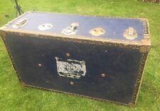 Vintage Trunk Chest Luggage ~ Railways ~ Coffee Table