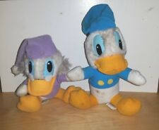 DISNEY VINTAGE MICKEY'S CHRISTMAS CAROL PLUSH DONALD DUCK & SCROOGE McDUCK TOYS