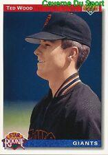 012 TED WOOD SR, ROOKIE SAN FRANCISCO GIANTS BASEBALL CARD UPPER DECK 1992