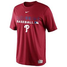 NIKE PHILADELPHIA PHILLIES MLB AUTHENTIC COLLECTION TEAM ISSUE DRI FIT SHIRT S