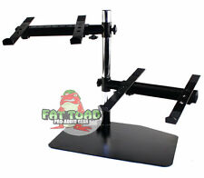 DJ Double Computer Laptop Stand - Duel Mount Holder Studio Mixer Controller Gear