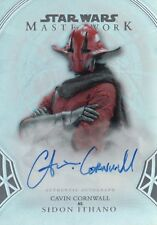 Star Wars Masterworks 2018, Cavin Cornwall 'Sidon Ithano' A-CC Auto Card #02/50