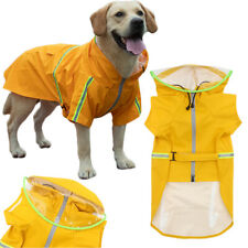 Dog Raincoat Waterproof Outdoor pet Doggie Rain Coat Rainwear Clothes US STOCK