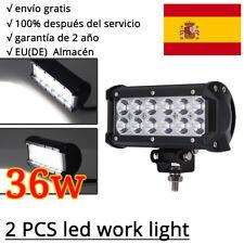 Pair 36W CREE Barra De Luz LED FOCO trabajo Lámpara Faro antiniebla JEEP 12V 4X4