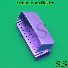 30 Holes Opening Dental Burs Holder Aluminum Endo Box Purple DN-2082