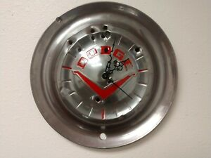 Dodge Coronet Royal Hubcap Clock Man Cave Wall Art 53 54