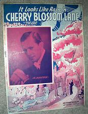 1937 It Looks Like Rain In CHERRY BLOSSOM LANE Sheet Music AL DONAHUE by Leslie