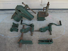 Vintage Old Cole Tool Swivel Bench Vise Anvil Drill Press Blacksmith Machinist