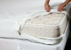 TOP SELLER! Bed Bug PROTECTOR Soft Lux FABRIC ~ Allergen Zippered MATTRESS COVER