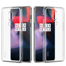 For OnePlus 6 IMAK Flexible Soft TPU Slim Transparent Thin Case Clear Cover 1+