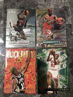 DENNIS RODMAN 95 1997-98 Metal Universe #62 #231 #3 #2 FOIL (4) NBA Hoops Bulls