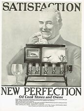 1920s BIG Old Vintage New Perfection Stove Retro Kitchen Decor Art Print Ad b.